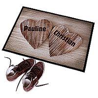 Individuelle Fußmatte als Geschenk zur Verlobung